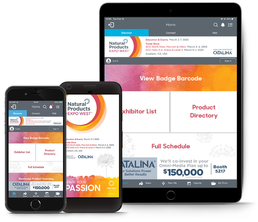 Download the Expo West app ahead of time.